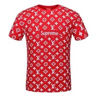 LV X Supreme Print T shirt top