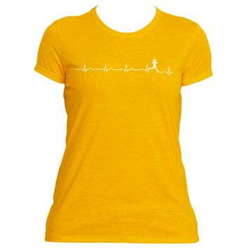 Runner's Heartbeat| Ladies Performance™ T Shirt |Underground Statements