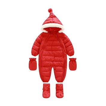 Kids Jackets for Girls Thick Warm Christmas Coats Newborn Snowsuit Baby Infant Winter Jacket Coat Russian Outerwear Clothes G164