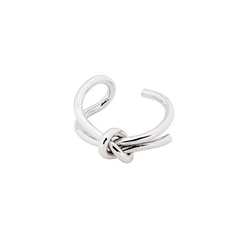 Silver Large Knot Ring