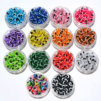 100PCS 8mm Mixed Colorful Beads Round Resin Evil Eye Stripe Spacer Beads Jewelry Fashion DIY Beads For Making Women &Men Gifts