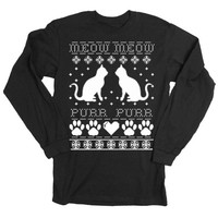 Black Friday Etsy Mens Cats Ugly Christmas Sweater Long Sleeve T-Shirt