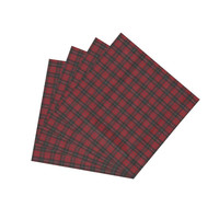 Red & Black Tartan Plaid Napkin Set of 4