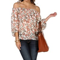Promo-off Shoulder Peasant Top