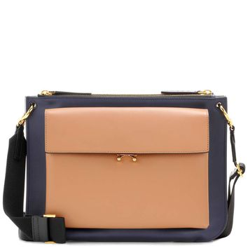 Pocket Bandoleer leather crossbody bag