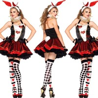 Bunny Girl Rabbit Costumes Women Cosplay Sexy Halloween Adult Animal Costume Fancy Dress Clubwear Party Wear