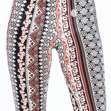 Ornate Moroccan Print Flared Pants