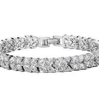Bridal Wedding Jewellery ,Zircon Crystals  bracelet,Bridal Jewelry cubic zircon bracelet