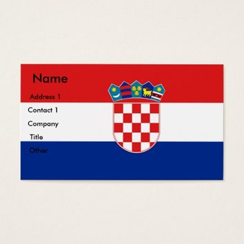 Business Card with Flag of Croatia