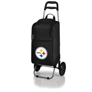Pittsburgh Steelers - Cart Cooler with Trolley (Black)