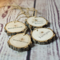 50 % OFF! Hand Stamped Ornament, Set of 4 Tags