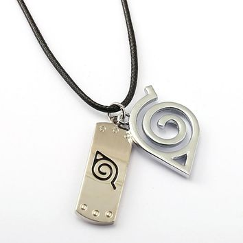 NARUTO Choker Necklace Leaves Ninja Headband Pendant