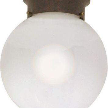 "Nuvo 60-433 - 8"" Flush Mount Globe Ceiling Light in Old Bronze Finish"