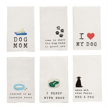 Dog Sentiment Dish Towels