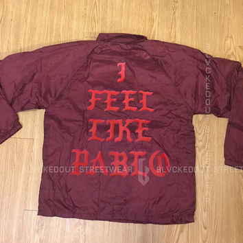 MAROON I Feel Like Pablo Coach Jacket / Kanye West / Yeezy / I Feel Like Ye / The Life of Pablo
