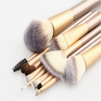 12 pcs make up brushes professional tools set makeup brushes with highlighter brush and fan brush eye shadow brush elf cosmetics