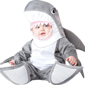 InCharacter Costumes Baby's Silly Shark Costume, Grey/White, Medium(12-18 Months)