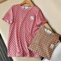 GUCCI NY Women Letter Print Short Sleeve Top