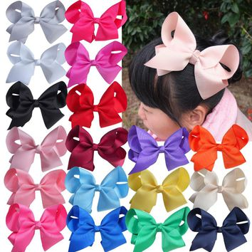 6 inch Extra large hair bow WITH clips Children Girl Hairbows Teens hair bow Boutique bows Hairpins Hair accessories 40pcs/lot
