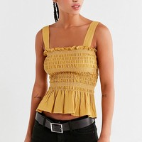 UO Smocked Square-Neck Cami | Urban Outfitters