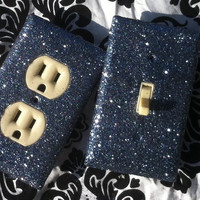 Grey Glitter Switchplate / Outlet Set