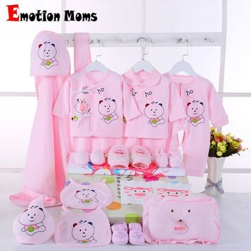 Emotion Moms newborn baby girls clothes cotton 0-6months infants baby girl boys clothing set baby gift set without box 22PCS/set