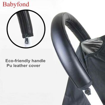 Leather cover for stroller handle and bumper pu leather handle cover bumper cover yuyu stroller use small stroller accessory