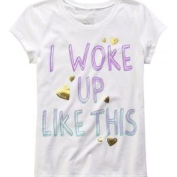 Woke Up Like This Graphic Tee | Girls Graphic Tees Clothes | Shop Justice