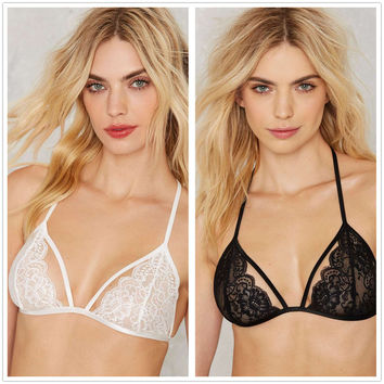 On Sale Cute Hot Deal Lace Spaghetti Strap Sexy Strap Adjustable Bra Exotic Lingerie [10236768716]