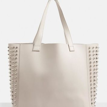 Missguided - Grey Studded Side Shopper Bag
