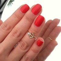 Gem Paved Anchor Midring from Fairy Tale Accessories