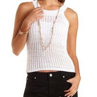 Open Knit Sweater Tank Top by Charlotte Russe