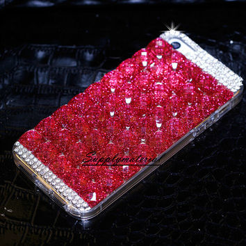 Fashion Glitter Crystal iphone 5 / 5s case Luxury iPhone 4 4s case Hard Clear Case for iPhone 5 5S cell phone cover case
