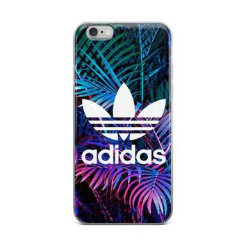 Adidas Logo LED Color Lights On Plants In Forest Cute Beautiful Green White Blue & Pur