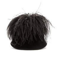 Bo Lapin felted hat with feathers