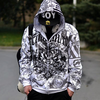 King Size Hoodies Hip-hop Print Hats Jacket [10352112195]