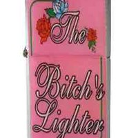 "Funny sexy Metal Flip  Lighter ( refillable )  ""bitches lighter"""