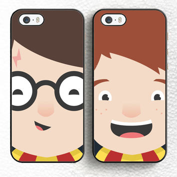 Harry Potter Couple Ron Weasley Best Friends Soft TPU Shell Phone Case For iPhone 6 6S Plus 7 7 Plus 5 5S 5C SE 4S Back Cover