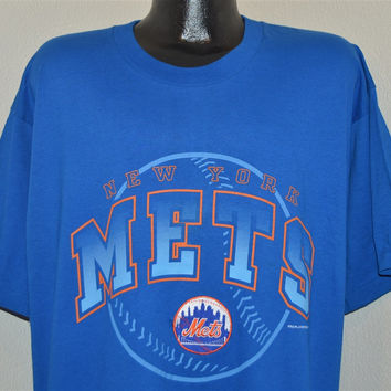 90s New York Mets Embroidered Patch Logo MLB t-shirt Extra-Large