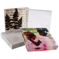 Diamond Tech My Tile Kit  with Four 1-7/8-Inch-by-1-7/8-Inch Clear Glass Crafting Tiles and Image Art Paper