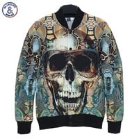 designed Men women 3d funny print Glasses Skull Retro Vintage slim autumn coat