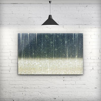 Scratched Blue and Gold Showers - Fine-Art Wall Canvas Prints