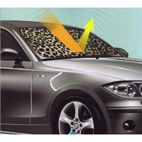 Tan Beige Leopard Animal Print Car Front Windshield Auto Accordion Style Sunshade - Jumbo Size : Amazon.com : Automotive