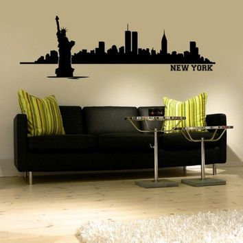 Wall Decal New York City Skyline Cityscape Travel Vacation Destination