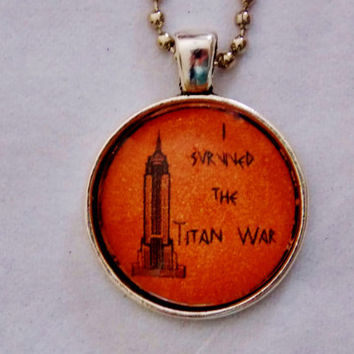 I Survived The Titan War Necklace. Demi God Necklace. 18 Inch Ball Chain.