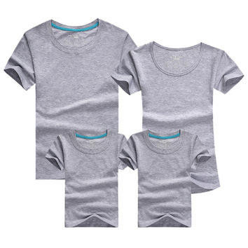 1pc Family Matching Baby And Mother Matching Clothes Solid Short Sleeve Couple T Shirt Bambino E La Madre Vestiti Di Corrisponde