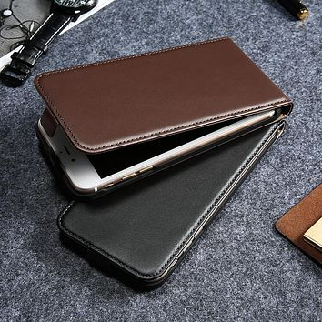 Vintage Flip PU Leather Leather Case For Iphone 5 5S 6S Luxury Phone Cases Cover Coque For Iphone 5S 6 6S Plus 7 7Plus Fundas