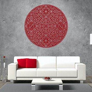 Wall Decals Mandala Yoga Namaste Om Ornament Indian Geometric Moroccan Pattern Decal Vinyl Sticker Home Art Bedroom Home Decor Room EG80