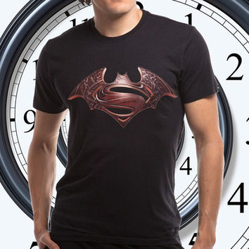 batman and superman logo t shirt men by Nonsafety Size from S----------3XL