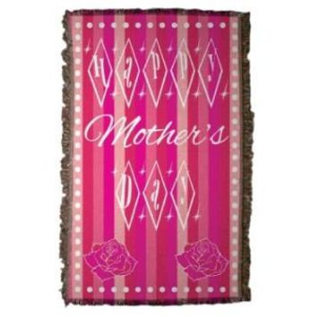 Mother's Day Woven Throw Blanket